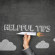 Helpful tips concept on black blackboard with businessman hand holding paper plane